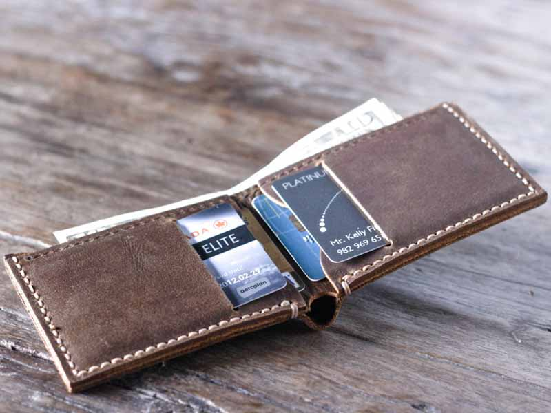 Leather Bifold Wallet 024