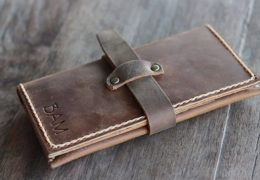 iPhone 6 Leather Wallet Case with Strap