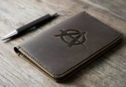Anarchy Leather Notebook Journal