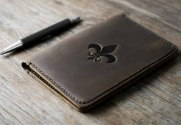 Fleur-De-Lis Leather Notebook Journal