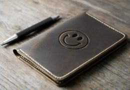 Smiley Leather Notebook Journal