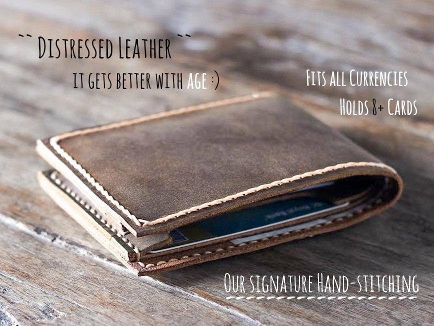 52d45bd657413 Handmade Leather Wallet Best Groomsmen Gifts - Gifts For Men