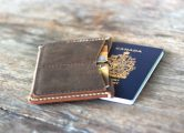 Distressed Leather Passport Wallet