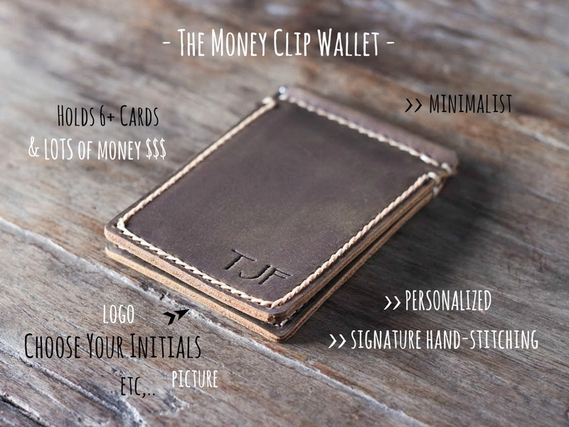 f003796461f0 Personalized Money Clip Men's Slim Wallet - Gifts For Men