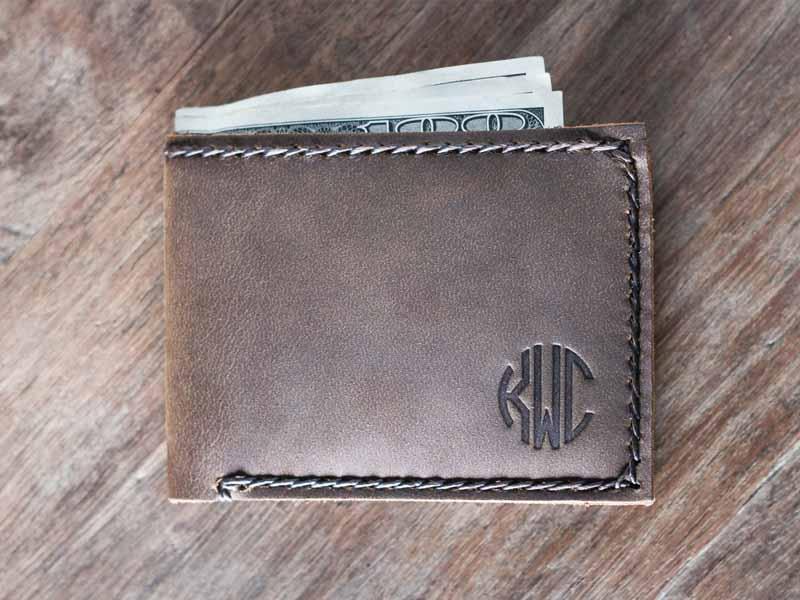 Magnificent Minimalist Handmade Leather Bifold Wallet