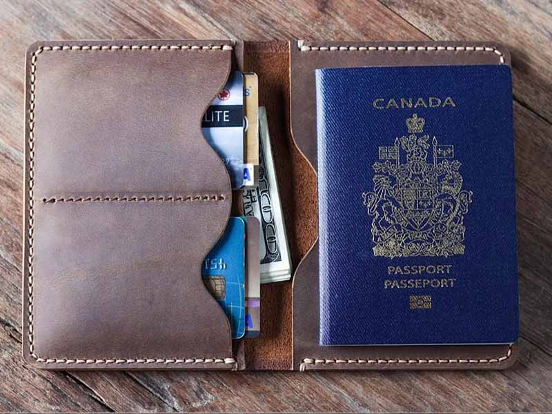 Leather Passport Wallet 021P