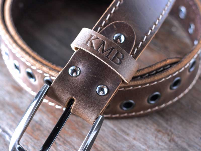 modish s handmade brown leather belts gifts for
