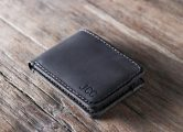 Men's Bifold Wallet Dark Leather