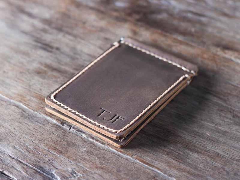 13473f3ebe158 Personalized Money Clip Men's Slim Wallet