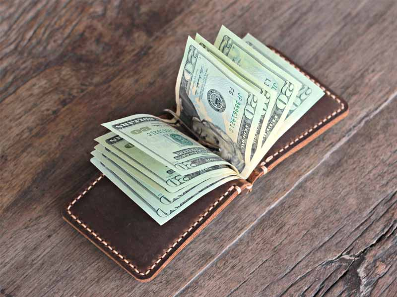 a7cd829a5bc8 Money Clip Men s Travel Wallet - Gifts For Men