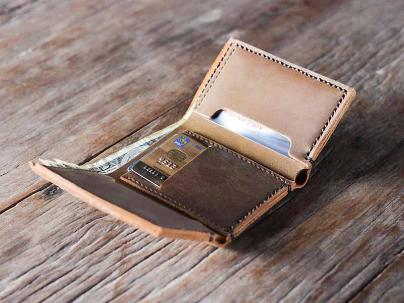 Stylish Leather Trifold Wallet 029