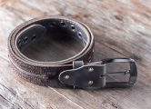 black leather belts for men