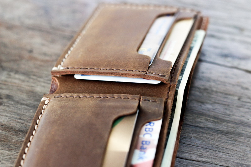 dbfc76eb8245 High Quality Distressed Leather Bifold Wallet Personalized - Gifts ...