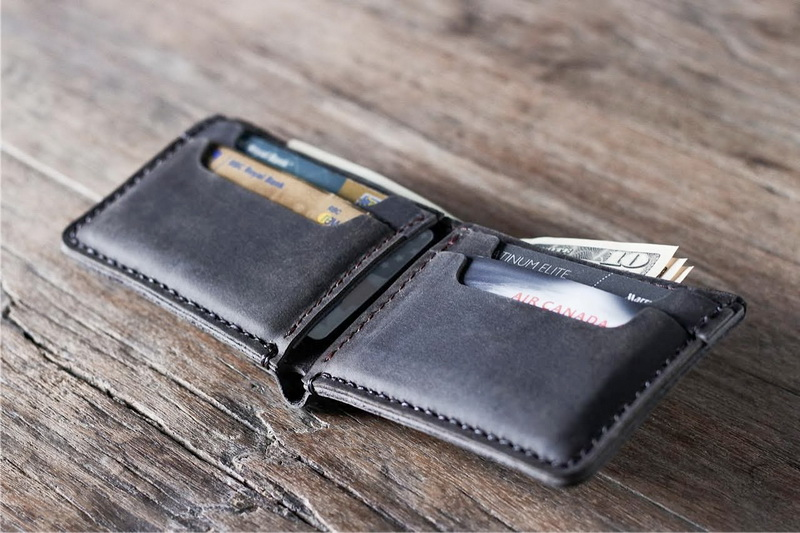 63bd23c9fb31d Men s Bifold Wallet Dark Leather Personalized Gifts For Him - Gifts ...