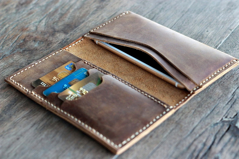 custom iphone 6 leather wallets for men and women with personalization