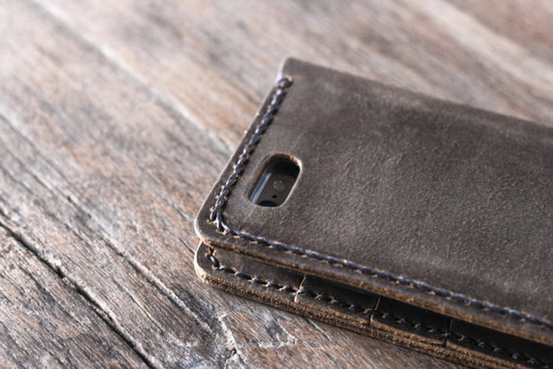 c08b435b2b5b4 Handmade Leather iPhone 6 Case with Strap Personalized - Gifts For Men