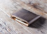 leather coin pocket wallet for men