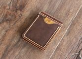 leather money clip for men