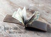 leather money clip for men