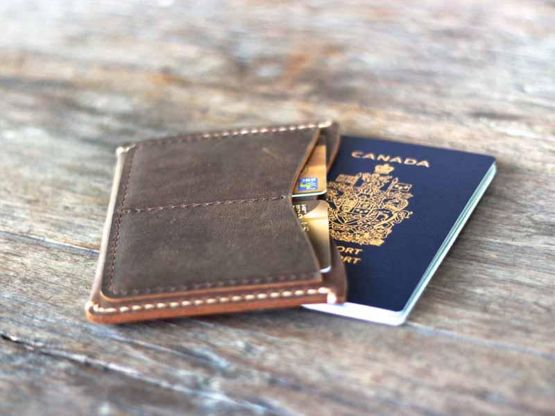 2de97d8e076fc Distressed Leather Passport Wallet. document wallet
