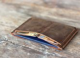 leather passport wallet for men