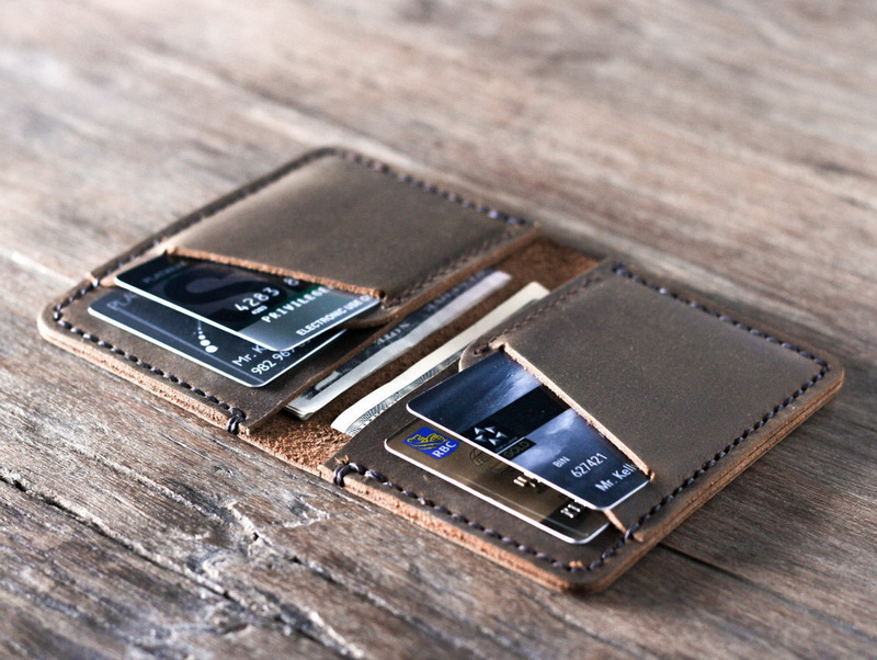 Personalized Front Pocket Credit Card Holder Wallet - Gifts For Men