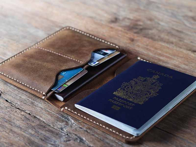Leather Passport Holder Secure Your Passport When