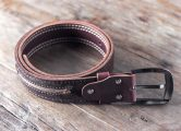 red leather belt for men