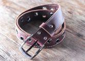 red leather belt for men