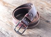 red leather belts for men