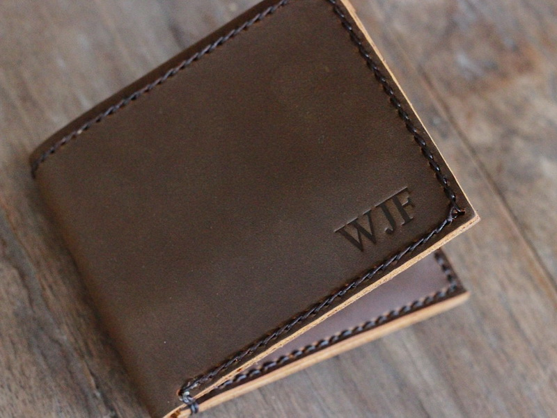 Personalized Bifold Leather Wallet For Men Gifts For Men