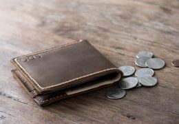 Leather Wallet with Coin Pocket