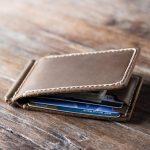 Elegant Leather Money Clip Wallet for Men