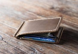 Elegant Leather Money Clip Wallet for Men