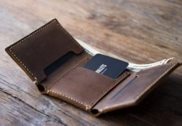 Personalized Mens Leather Trifold Wallet