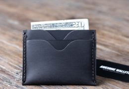 Slim Leather Card Wallet for Men