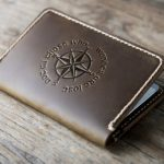 Leather Passport Holder - Not All Those Who Wonder Are Lost