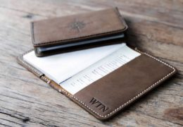 Leather Passport Holder Compass Rose