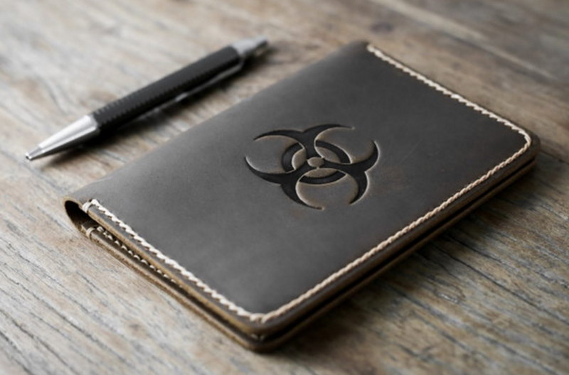BioHazard Leather Notebook Journal