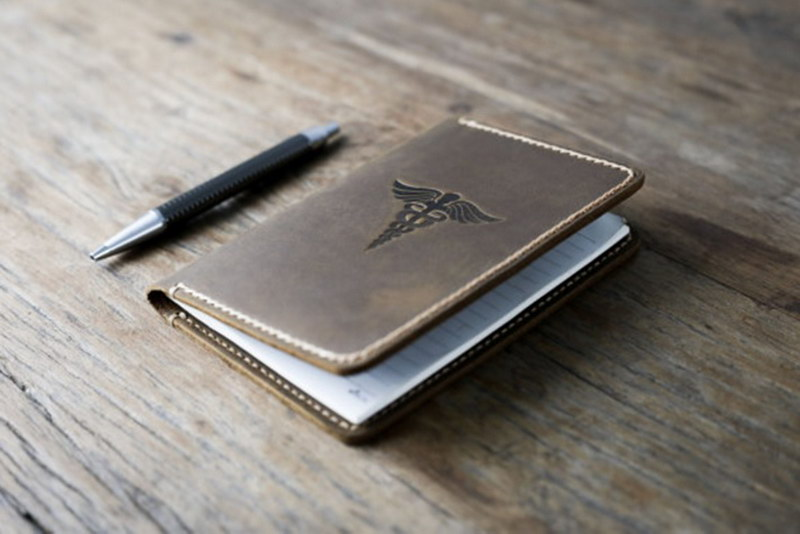 Caduceus Leather Notebook Journal