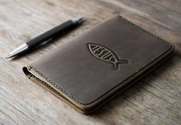 Fish Leather Notebook Journal