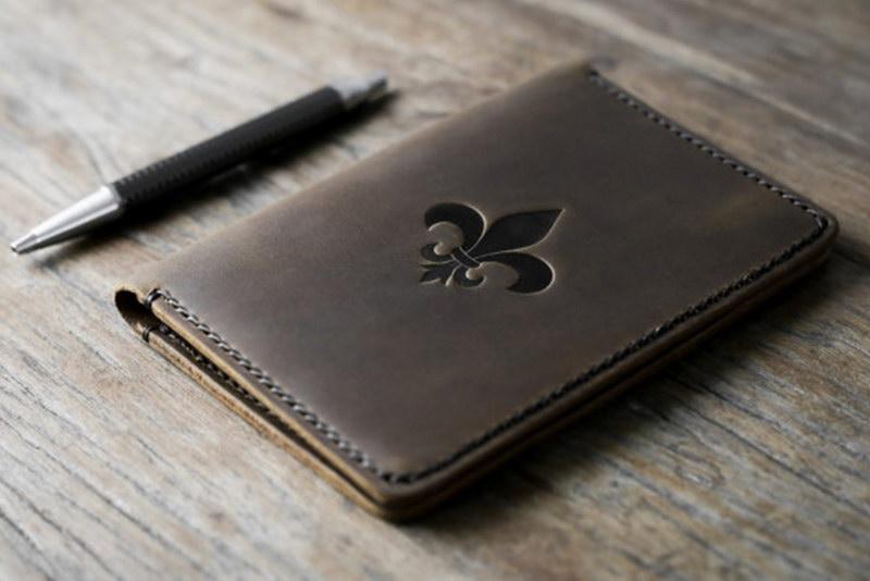 Fleur-De-Lis Leather Notebook Journal