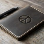 Peace Leather Notebook Journal