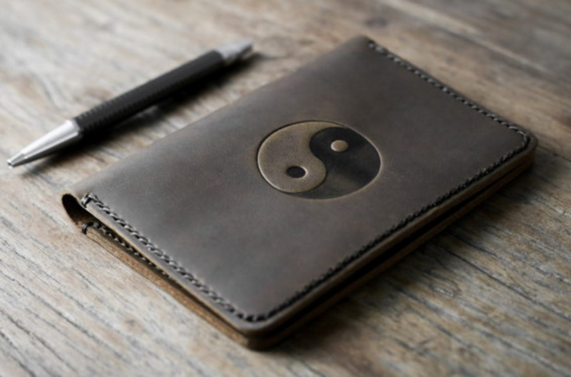 Yin and Yang Leather Notebook Journal