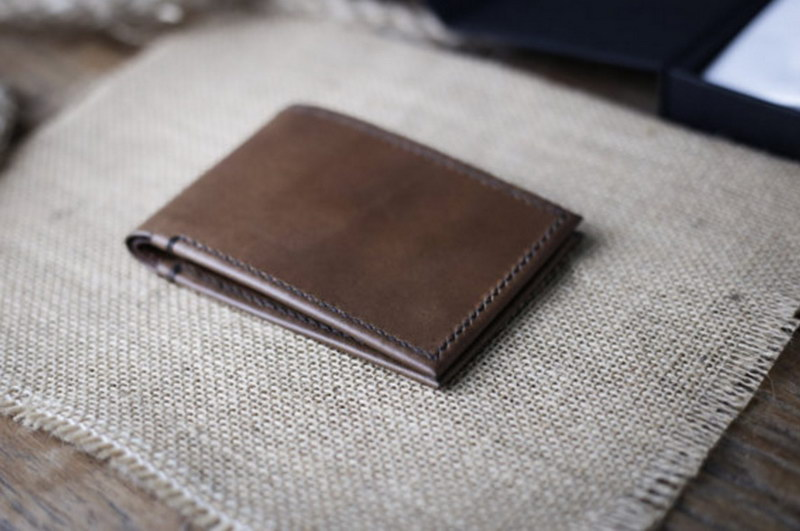 Super Slim Leather Bifold Wallet